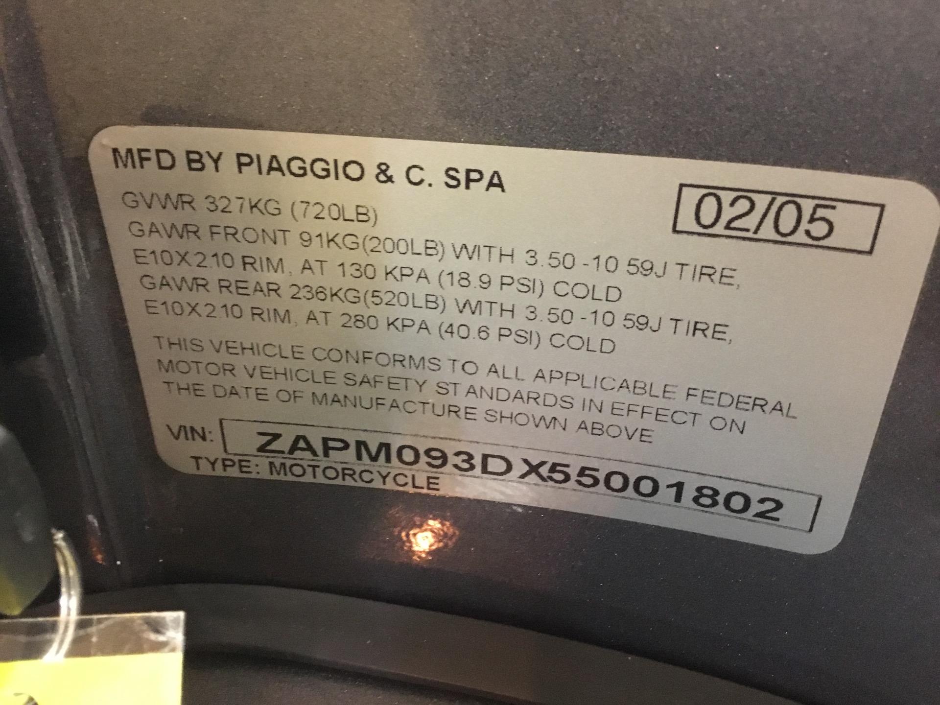 Used-2005-VESPA-PX-150